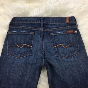 7 For All Mankind Dark Wash Jeans  Bootcut  24